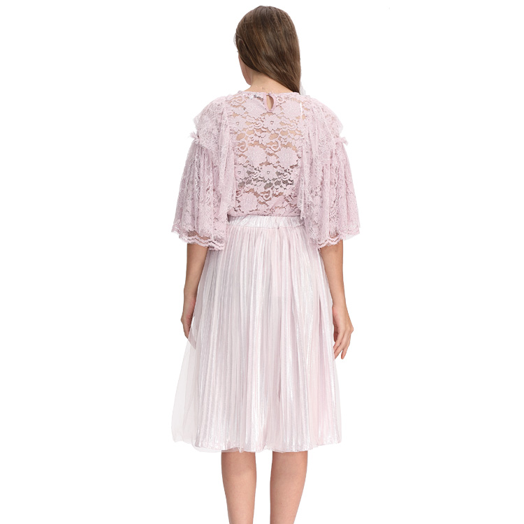 New fashion women fancy lace latest blouse styles and skirt designs