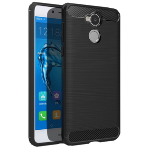 Carbon fiber Silica gel rugged armor case for huawei honor Holly 4