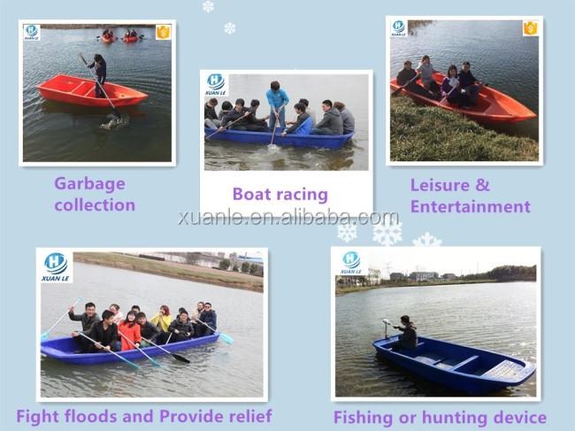 Canoa de barco de pesca de plástico pequeno lago de polietileno para venda