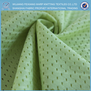 Micro mesh fabric/polyester tricot mesh brushed fabric for football jersey, athletic mesh fabric