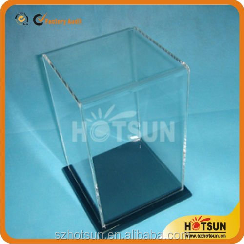 High clear acrylic football boot display case with top quality