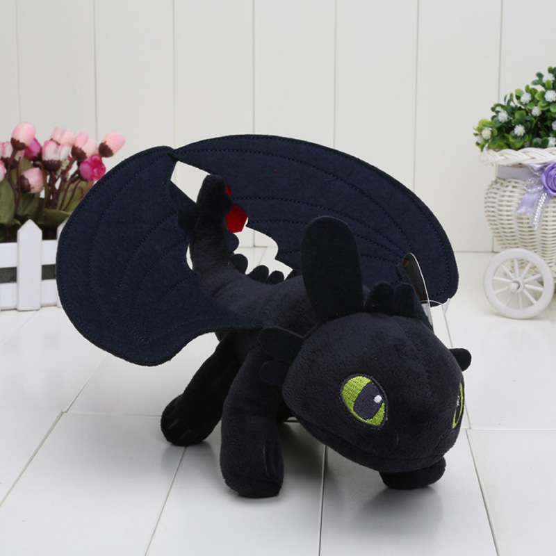 9'' HOW TO TRAIN YOUR DRAGON MINI PLUSH Toothless Night Fury Toy