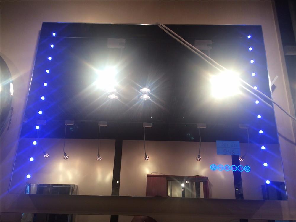 Spiegel Met Klok : Aangepaste order welkom smart led backlit spiegel met bluetooth klok