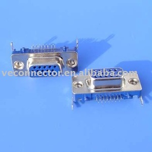 15 pin dvi VGA connector,Female,super thin,Dip to PCB