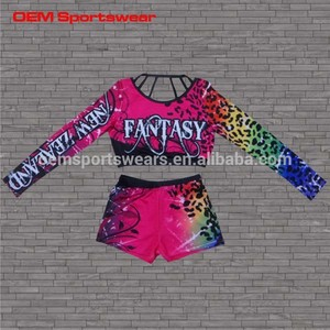 Wholesale custom all star cheerleading uniform cheer sport bra and shorts