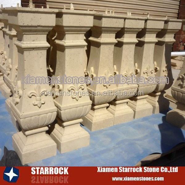 Barandilla de balaustres de piedra natural barandillas y - Balaustres de piedra ...