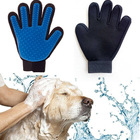 2018 Amazon best seller black dog cat horse pet deshedding brush glove grooming glove for pet 180 255 259 tips
