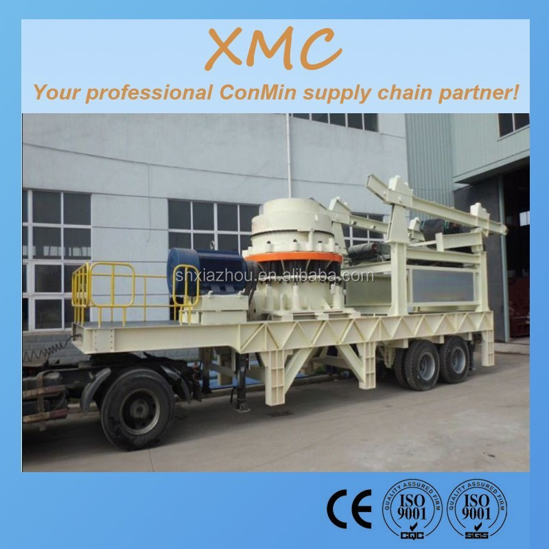 New System Mobile Crusher and Screen Plant cone mobile crusher vibrating screening