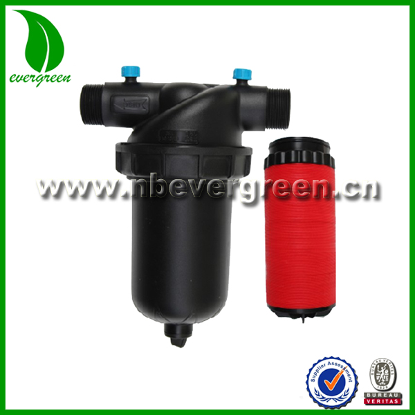 "Hot selling 2"" male T-type disc water filter for drip tape irrigation"