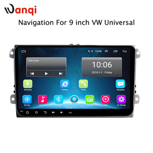 China Hot selling 2 din car dvd player for vw universal / 9 inch android system car gps navigation with wifi +mirror Link