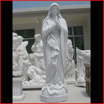 Religious figure carvings stone statue of mother virgin mary