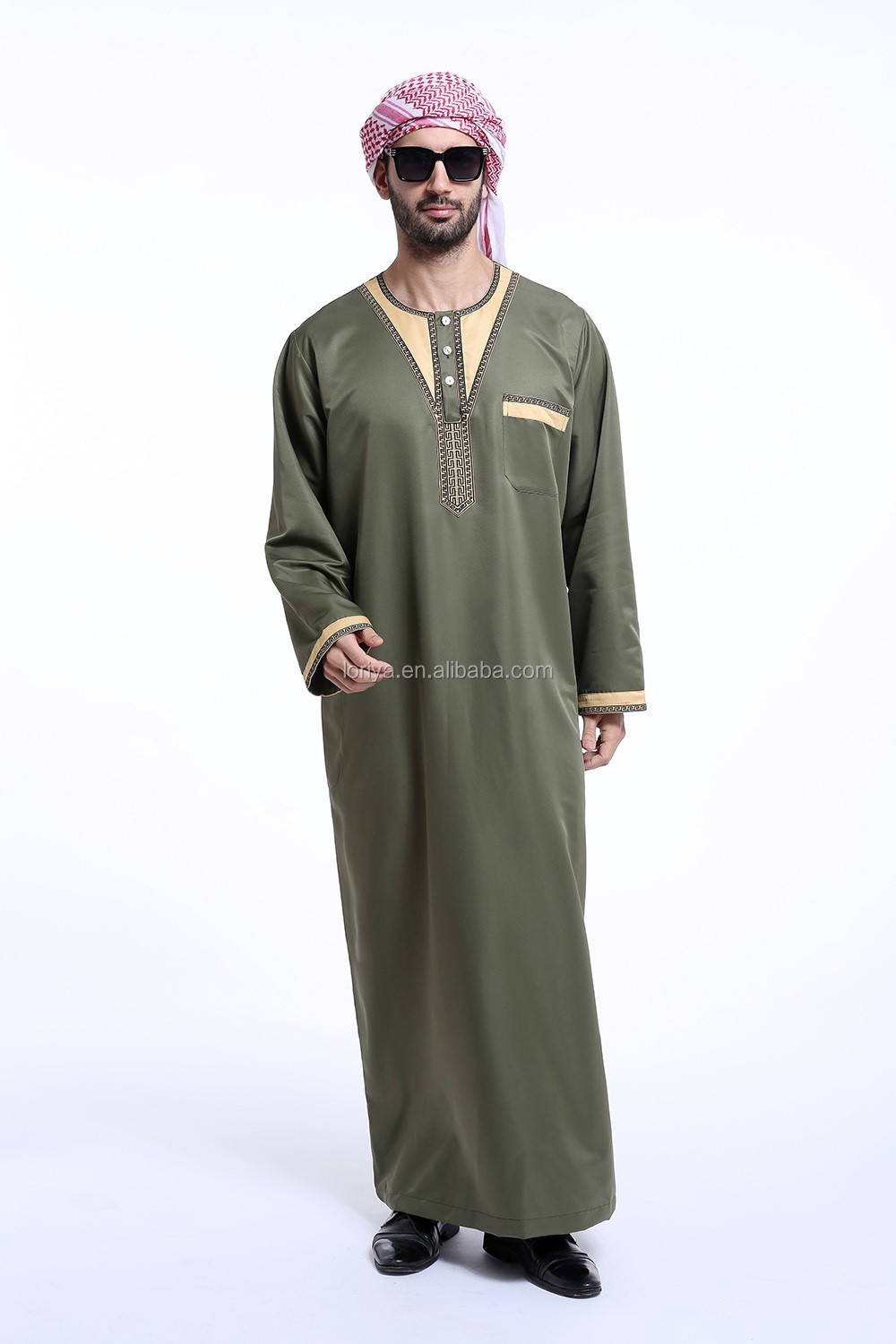 High quality men's arab design men's abaya