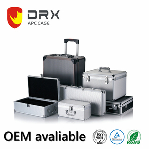 Factory case hard equipment instrument aluminum carrying case with foam padding or divider