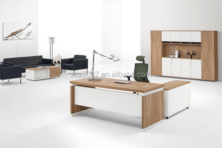 Latest L Shape Modern Executive Desk Office Table Design Wooden Office Table