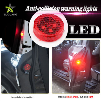 Wireless Red Mini Magnetic Battery Strobe Flash Light Cars Anti Collision Door Led Warning
