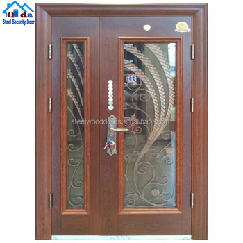 Metal Security Screen Cheap Exterior Steel Door Colors