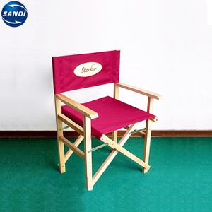 Cheap custom wooden foldable director chair with LOGO