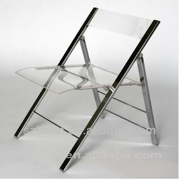 Professionnel Acrylique Transparent Effacer Chaise Vendre Avec Pliante