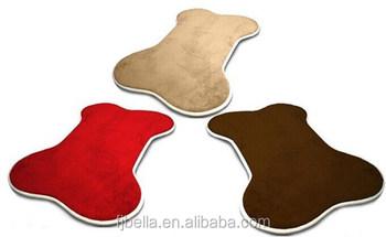 Multi Colors Dog Bone Shape Memory Foam Pet Bed Mat