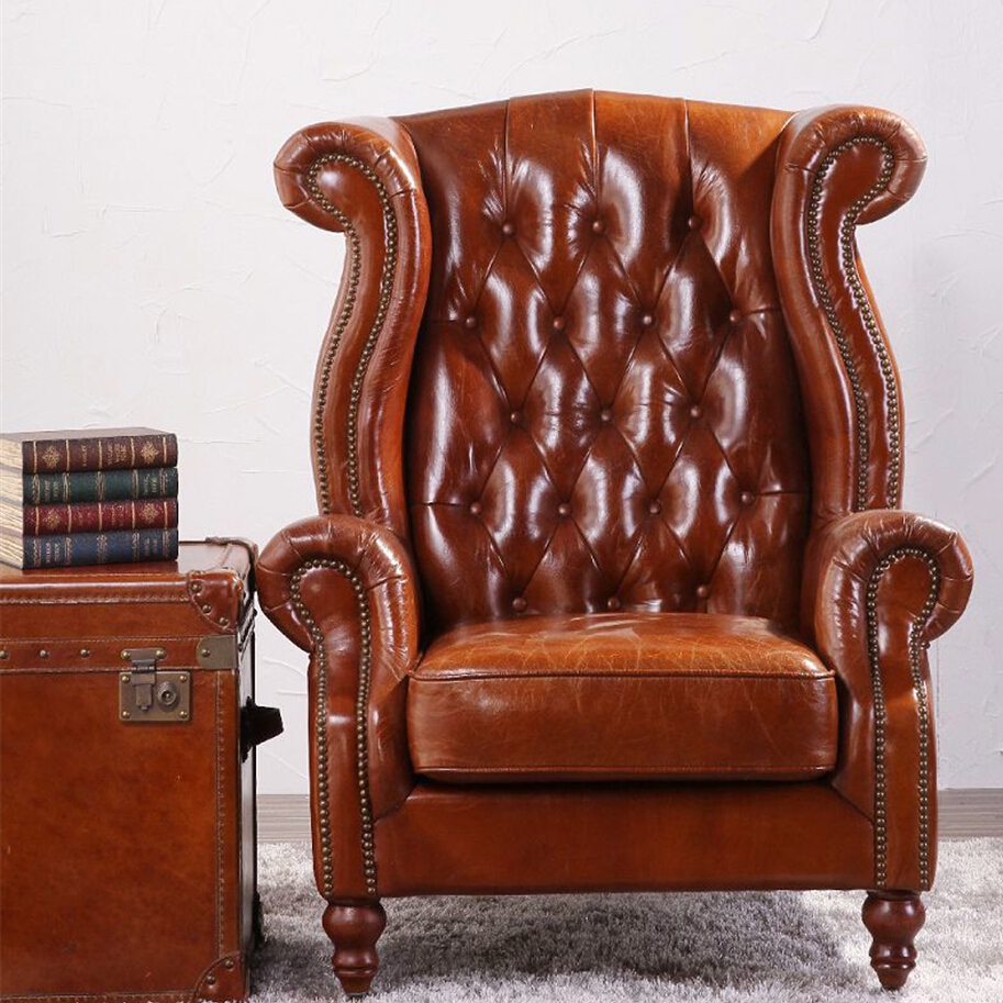 Cool Deconstructed Studded High Back Leather Wing Chair Buy Modern High Back Wing Chair High Back Leather Wing Chair Studded Leather Wing Chair Product Short Links Chair Design For Home Short Linksinfo