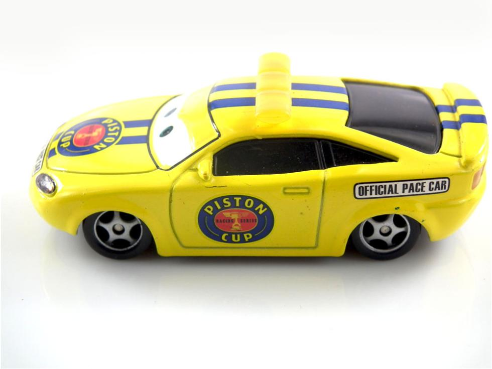 Original PIXAR CARS 2 Charlie Checker Piston Cup Official Pace Car Loose Rare 1:55 Diecast Kids Toys Car Toys For Children