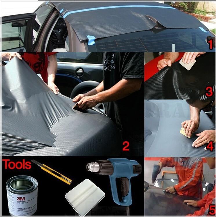 free shipping 50 200cm waterproof diy car sticker car styling 3d 3m car carbon fiber vinyl. Black Bedroom Furniture Sets. Home Design Ideas