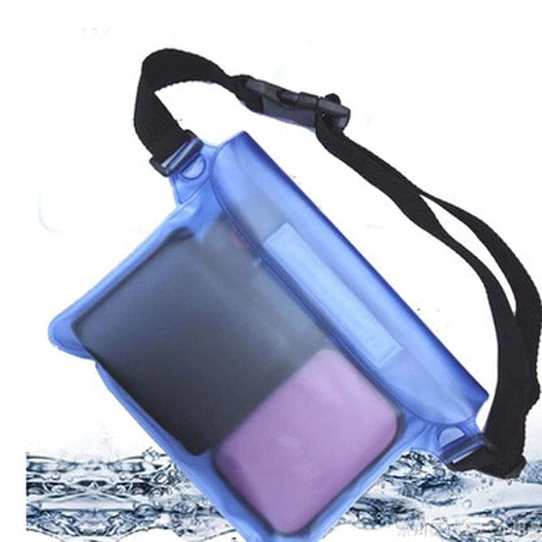 Iuhan Waterproof Pouch Waist Bag Beach Pouch with Adjustable and Extra-Long Belt