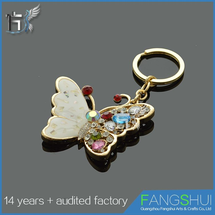 Crystal decorative metal 3d keychain photo