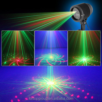 new suny 12v mini outdoor led laser light projector with 20 gobos rg