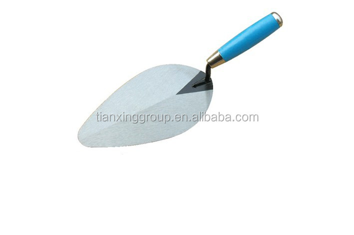 Bricklayer Trowel W/Painted Wooden Handle & Back Ferrule