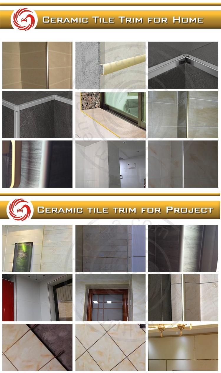 hotel ramp edge purple ceramic metal aluminum tile trim - buy