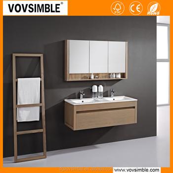 Wholesale Modern Wall Mounted Solid Wood Bathroom Vanity Cabinet