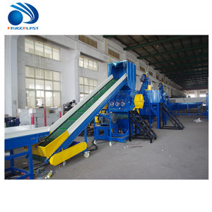 plastic PET bottle/PP PE film recycling machine crushing washing drying line