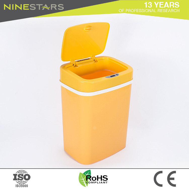 Sale wholesale electronic smart yellow novelty trash can