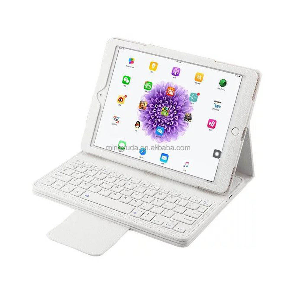 White color 2 in 1 design for ipad pro wireless bluetooth keyboard case