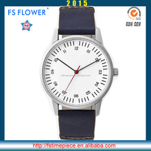 FS FLOWER - Briefcase Fashion Youth Quartz Clock Wrist Watch Leather band