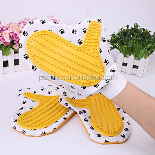 Custom Design Pet Dog fur remover washing brushes grooming glove