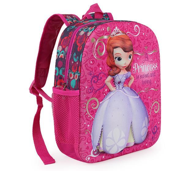 a2532003dc28 Children s School Cartoon 3D Bags Princess Sofia Girls School Bags Backpack  Pink Soft School Bags Kids Lovely Design Bag  D