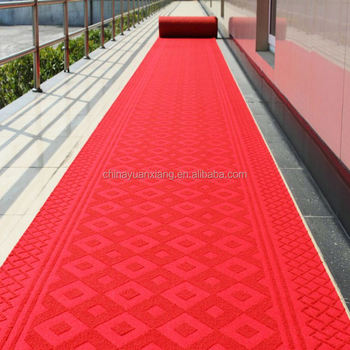 Anti Slip Red Carpet Runner