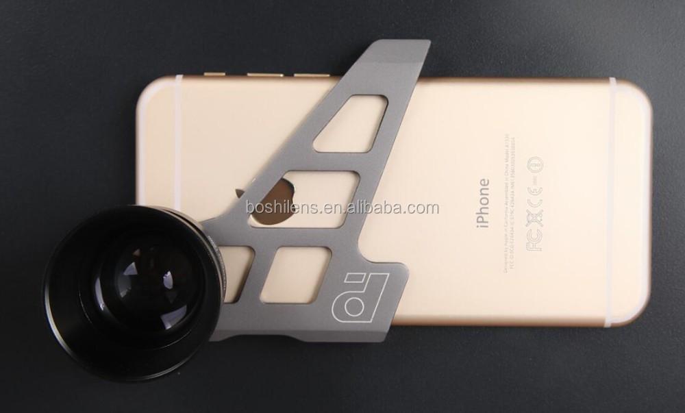 Suporte De Alumínio Grande Angular De 165 Graus 3x Zoom Óptico Lente Do  Telefone Móvel Para O Iphone 6 Ou Iphone 6 S - Buy 3x Lente De Zoom Ótico