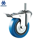 Medical Stem Locking Threaded Industrial Rubber Casters And Wheels Wholesale