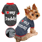New Style Top Quality Lovely Pet Clothing T-shirt Warm Small Dog Clothes For Autumn Winter