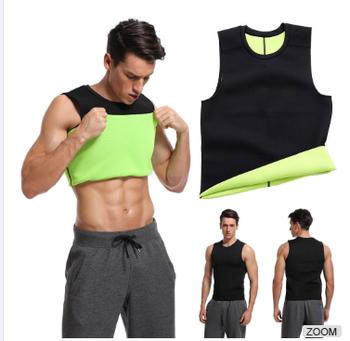 2cbe4f9628 Men Sweat Waist Trainer Neoprene Tank Top Weight Loss Vest Workout Sauna  Shirt