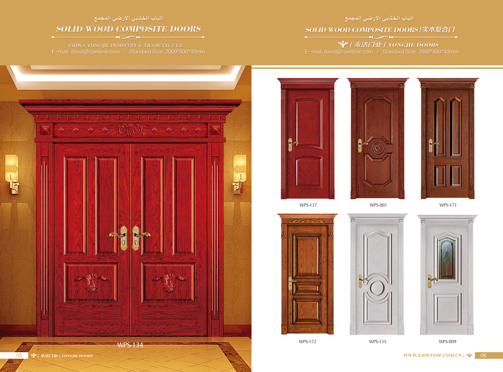 American entry new design wooden door room door design for New wood door design