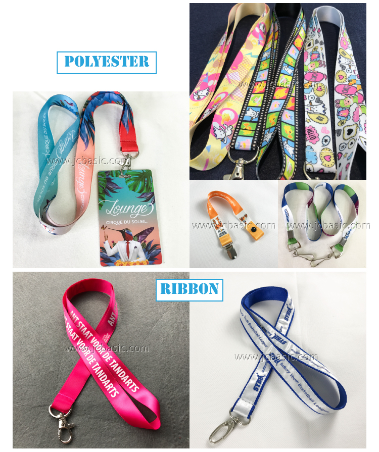 Custom Fashion Style Logo Polyester Neck Strap Lanyards