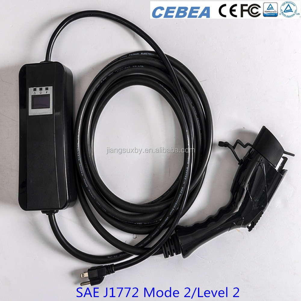 Sae J1772 32a Level 2 Mode Portable Ev Charger Charging Connector For Evse
