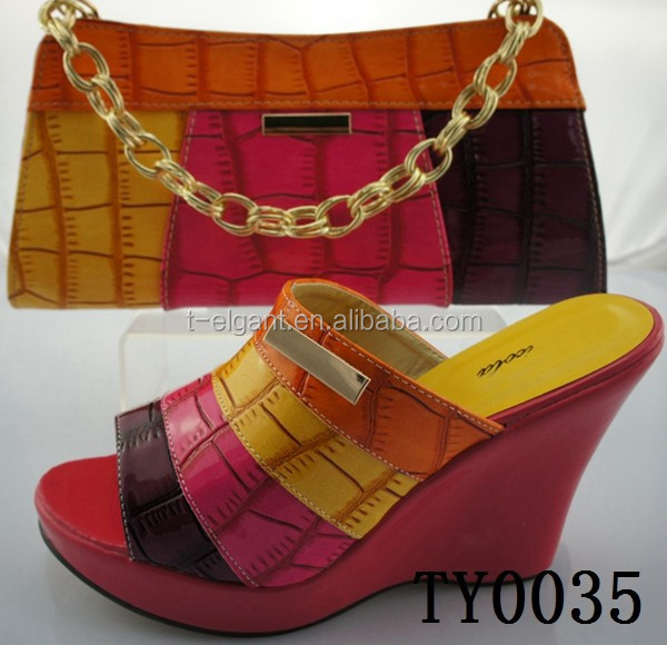 Latest design paypal accept ,multi color African Women Shoes for party