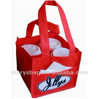 4 cup coffee cup bag made of non woven