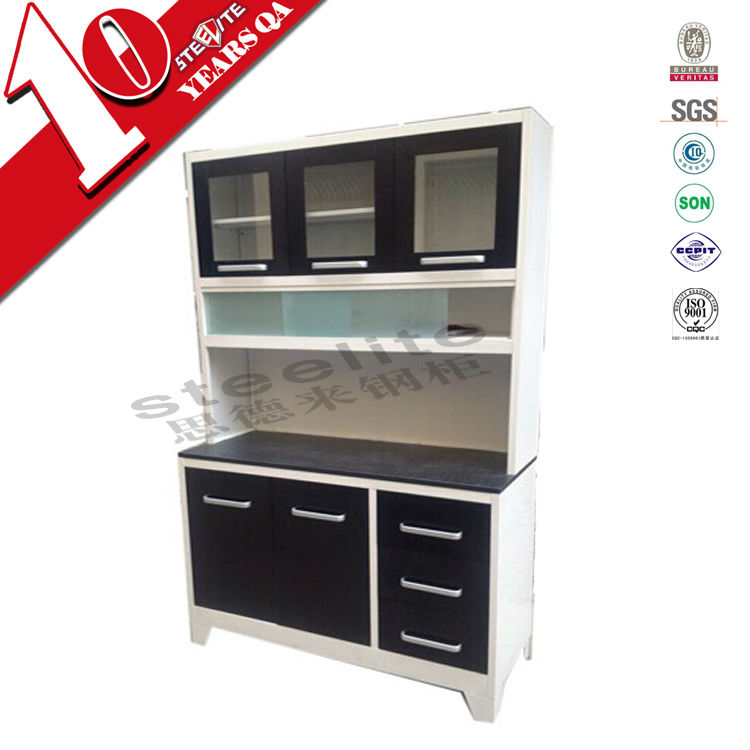 Material For Kitchen Cabinet: Ready Made Wall Mounted Kitchen Cupboards / Bi-color Metal