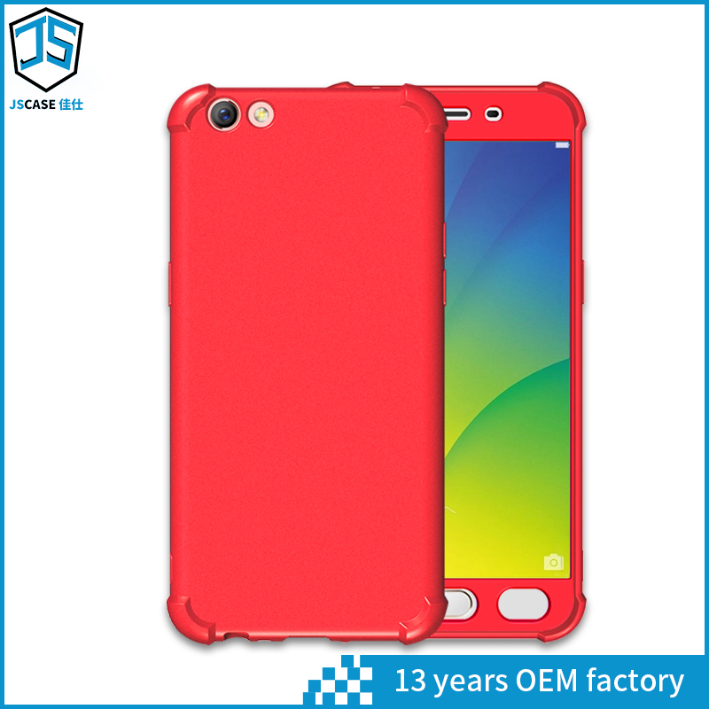 360 degree full cover case pc tpu combo protective back cover for oppo r9s